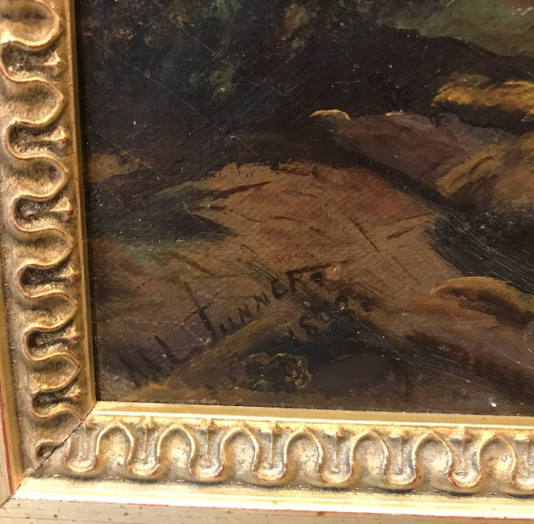 Austrian Antique 19th Cent. European Oil Painting on Canvas Signed M. L. Tunner, 1872 For Sale