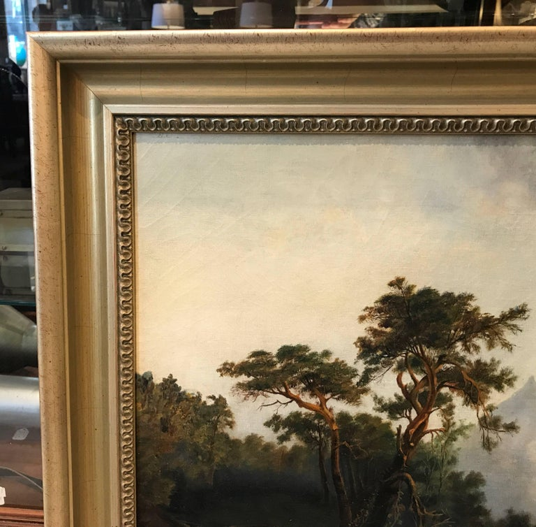 Antique 19th Cent. European Oil Painting on Canvas Signed M. L. Tunner, 1872 For Sale 2