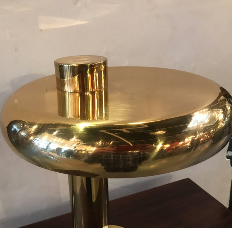 American Mid-Century Modern Disc Desk Lamp in the Manner of Pierre Cardin For Sale