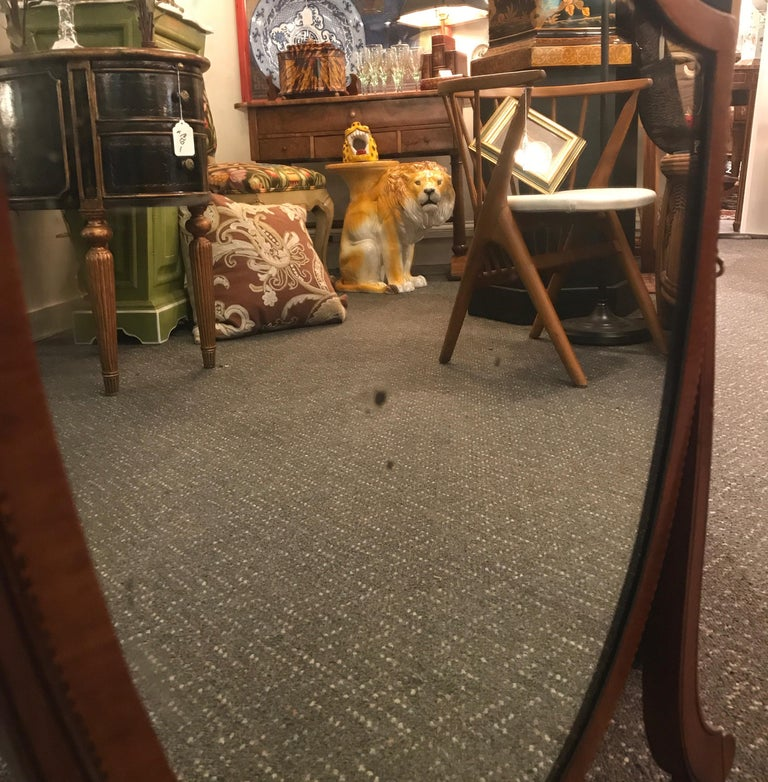 Late 19th Century Mahogany Hepplewhite Dressing Mirror For Sale 6