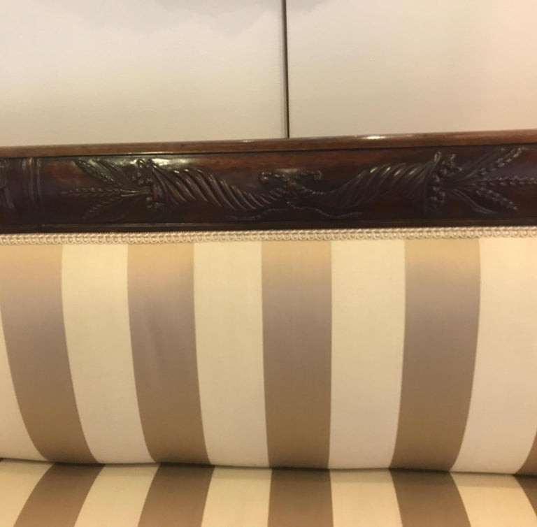Duncan Phyfe Style Mahogany Sofa For Sale 1