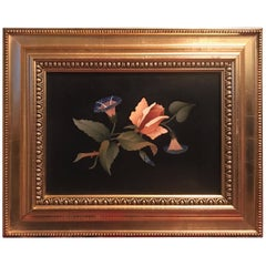 Pietra Dura Gilt Framed Italian Plaque