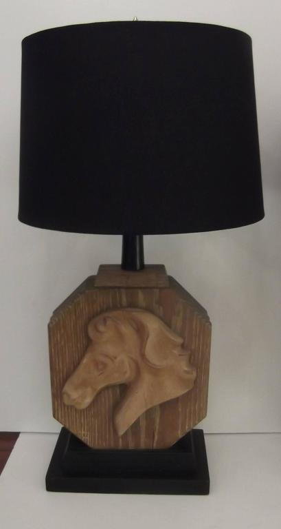 Mid-Century Modern Pair of Heifetz Table Lamps in Limed Oak For Sale