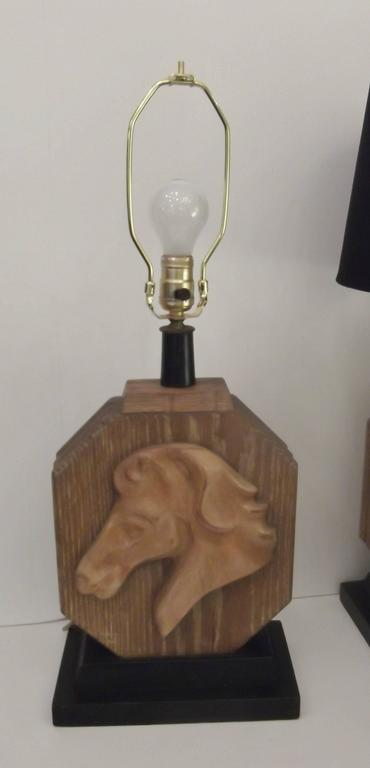 American Pair of Heifetz Table Lamps in Limed Oak For Sale