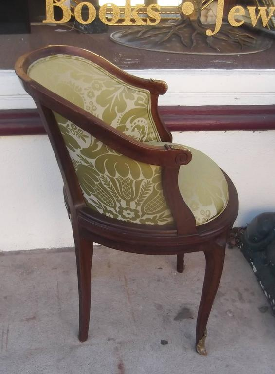 Louis XV Antique French Walnut Accent Chair with Ormolu Mounts For Sale - Antique French Walnut Accent Chair With Ormolu Mounts At 1stdibs