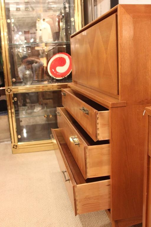 1950s Red Lion Front Mahogany Five Drawer Dresser At 1stdibs