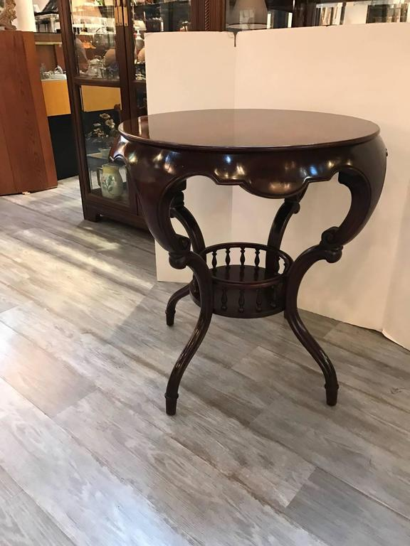 Exotic Shape Mahogany Round Table For Sale At 1stdibs