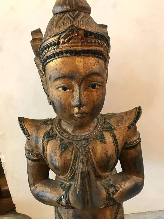 Large Antiques Thai Goddess Statue For Sale At 1stdibs