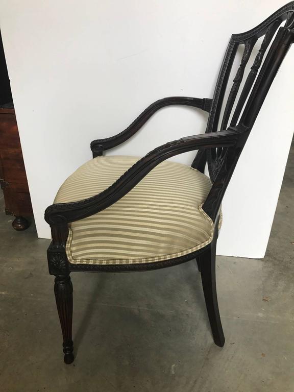 19th century hand carved hepplewhite armchair desk chair armchair desk tray in uk armchair design