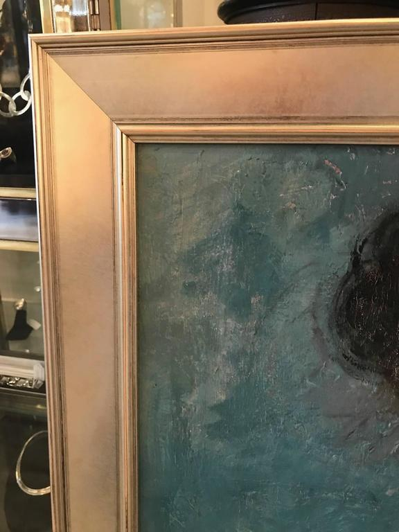 Hand-Painted Mid-20th Century Oil Painting on Board Nude For Sale