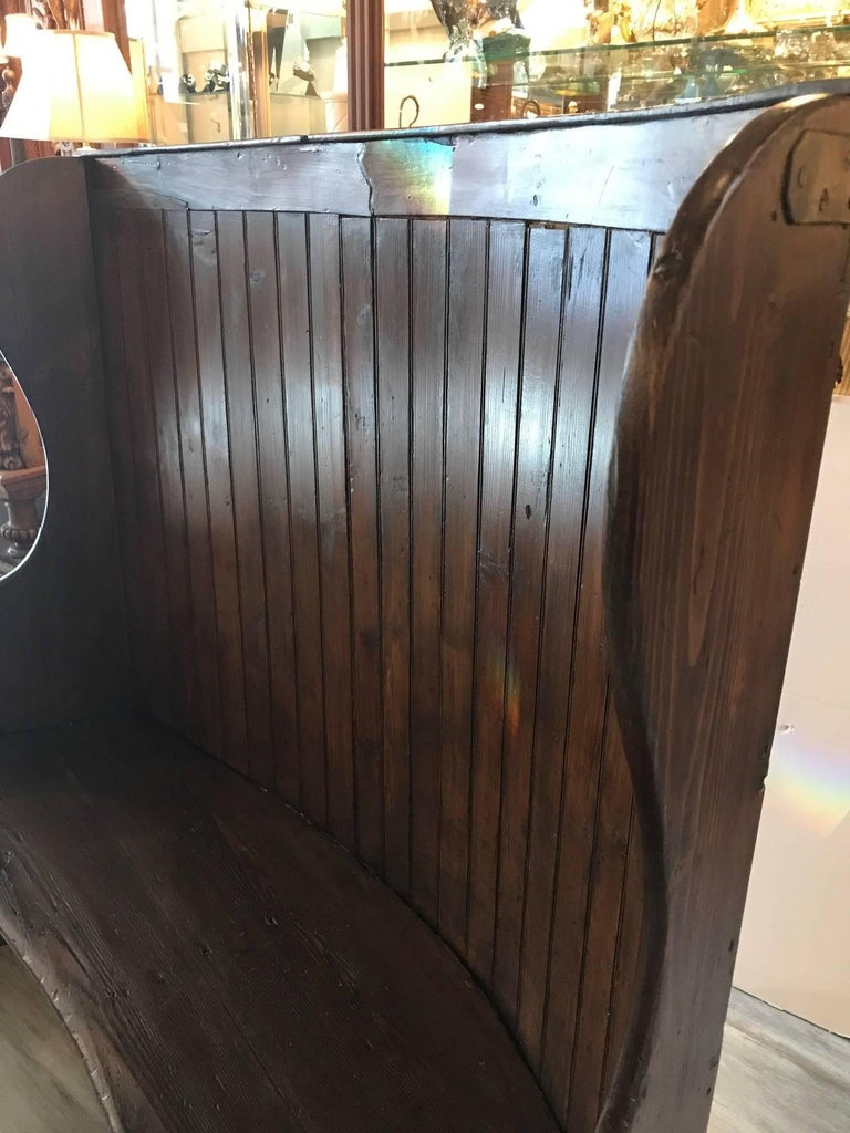 19th Century Pine Settle Bench For Sale 5
