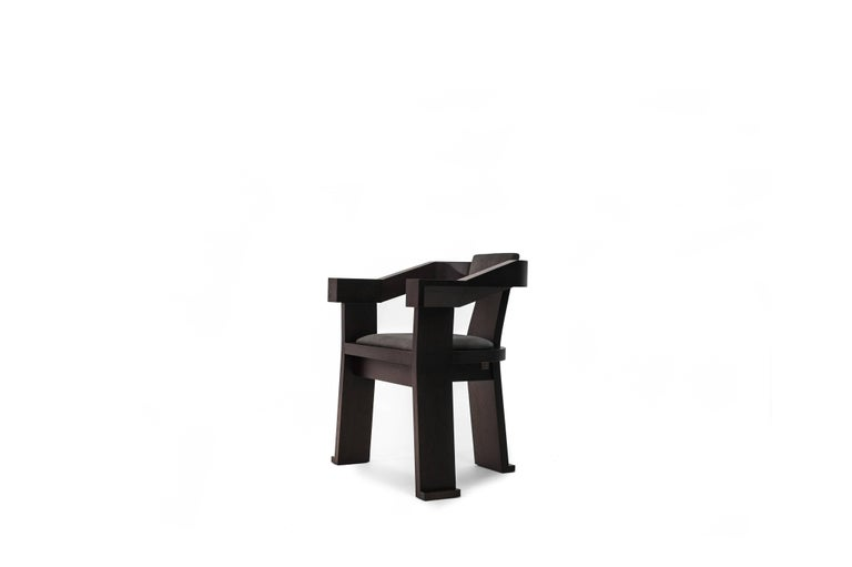 Contemporary Fiona Carver Dining Room Chair in Oak or Walnut  2