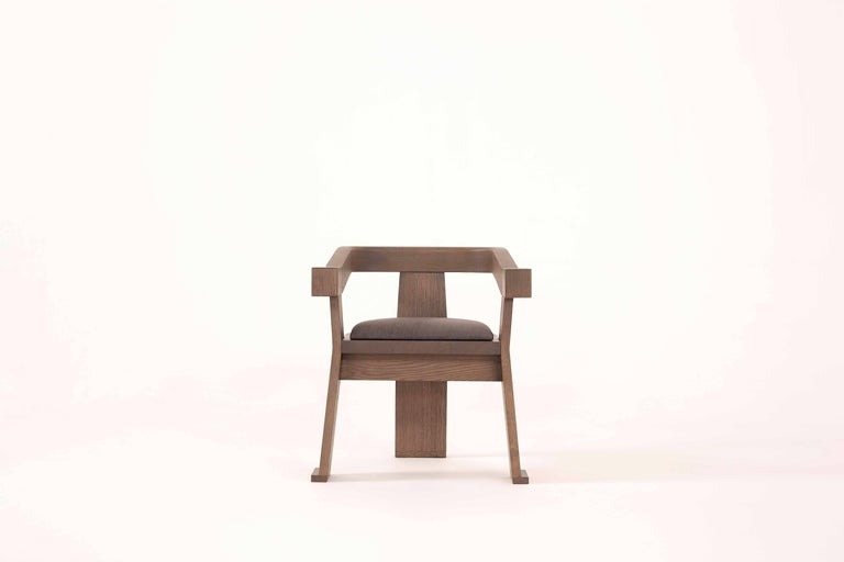 Contemporary Fiona Carver Dining Room Chair in Oak or Walnut  4