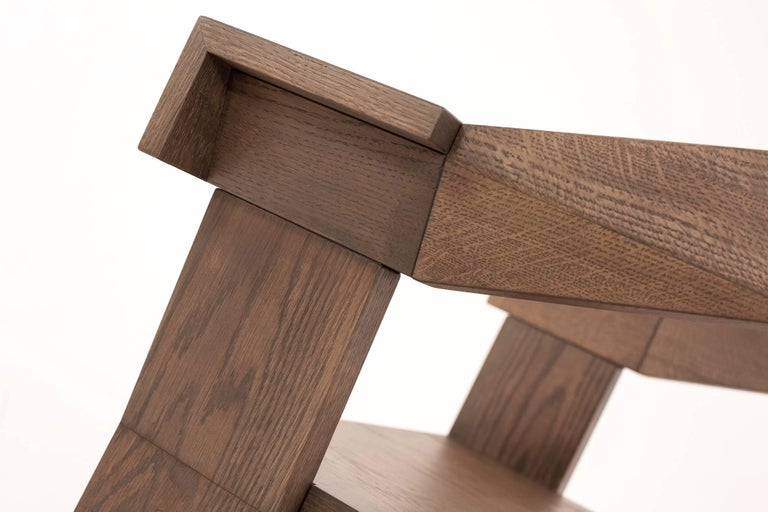 Contemporary Fiona Carver Dining Room Chair in Oak or Walnut  5