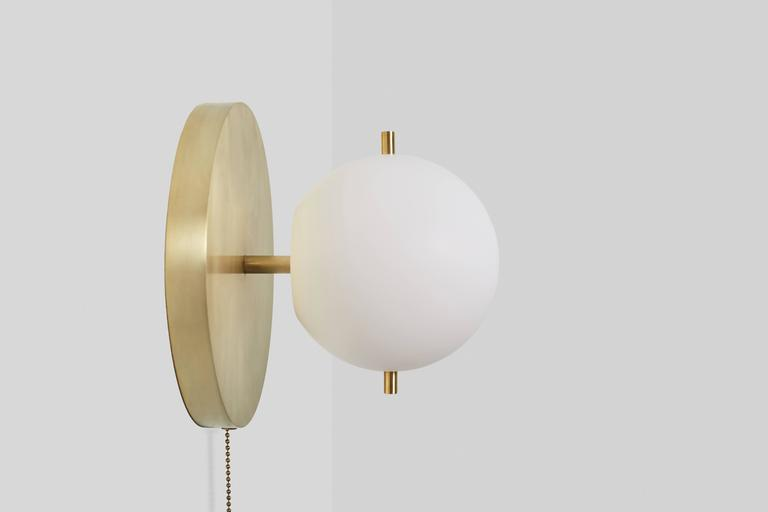 Modern Signal Br Globe Sconce With Pull Chain For