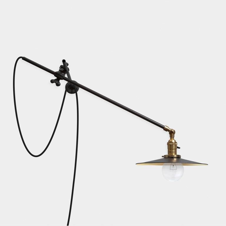American Industrial Wall Lamp For Sale