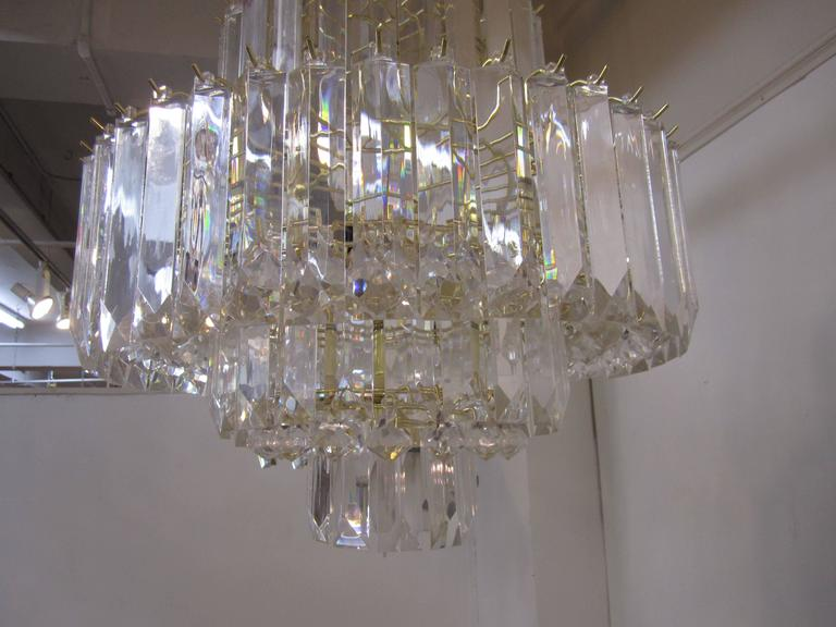 Vintage Lucite Wedding Cake Chandelier In The Style Of