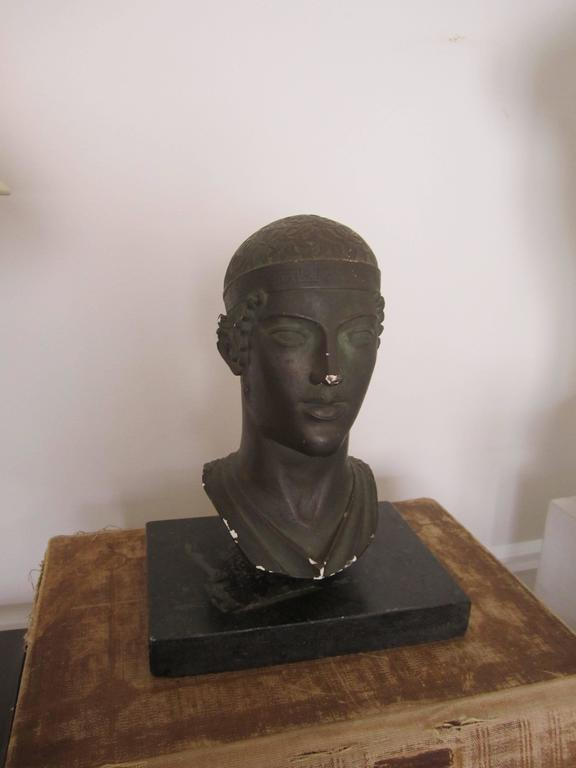 Greek or Roman Head Bust Sculpture, 1965 For Sale 8