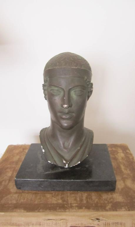 Greek or Roman Head Bust Sculpture, 1965 For Sale 7