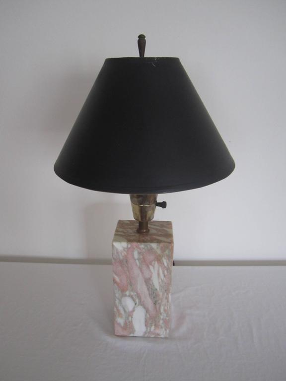 Post-Modern Postmodern Pink and White Marble Desk or Table Lamp, ca. 1970s For Sale