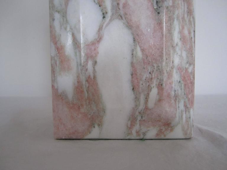 Postmodern Pink and White Marble Desk or Table Lamp, ca. 1970s For Sale 3