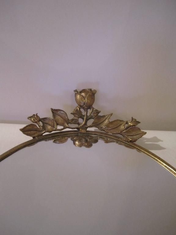 Mid-20th Century Brass and Mirror Vanity Tray, ca. 1960s For Sale