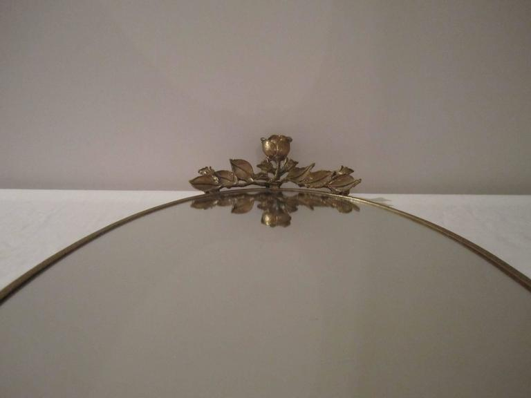Brass and Mirror Vanity Tray, ca. 1960s For Sale 1