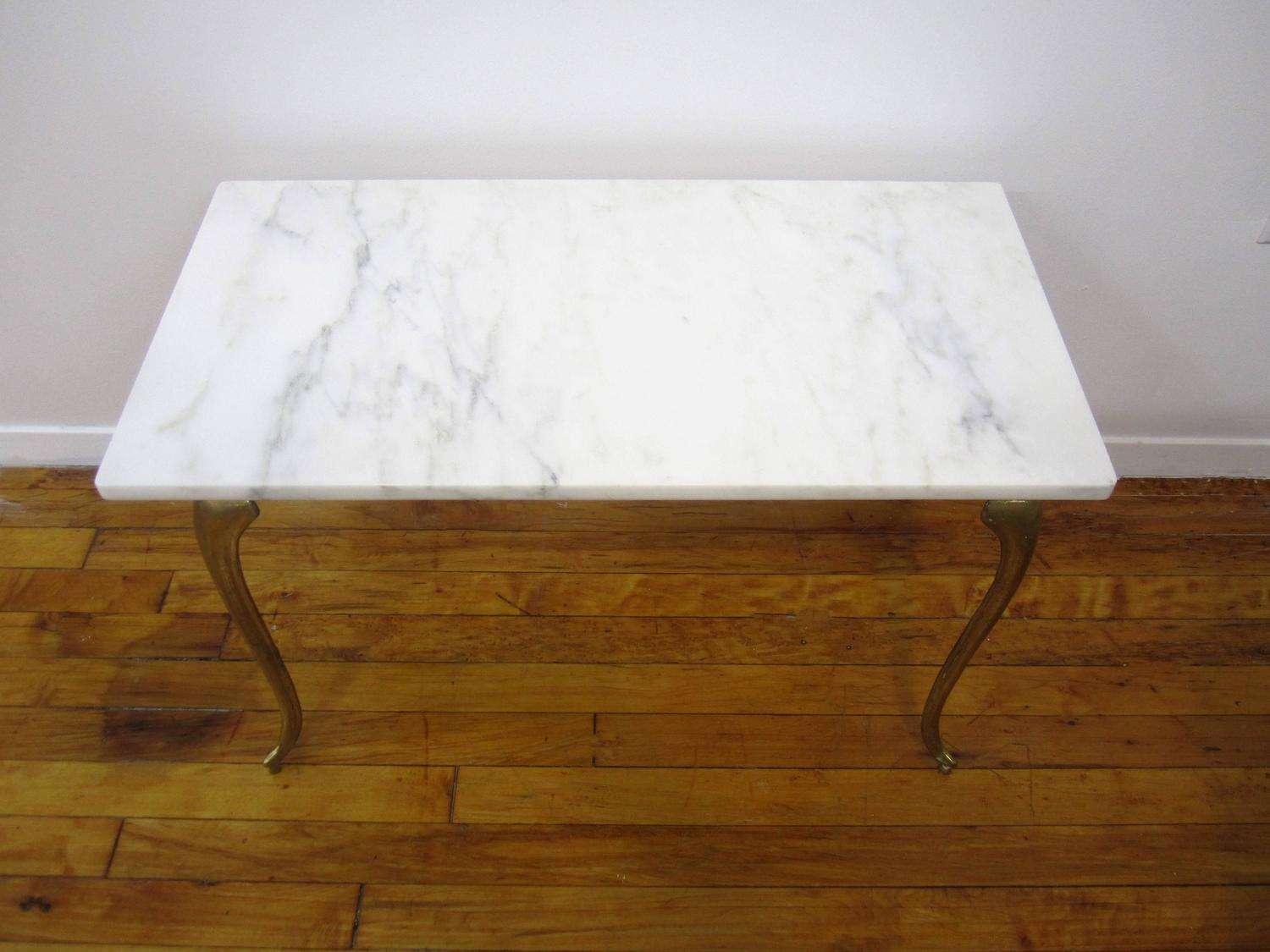 small vintage italian brass and marble cocktail table in the style of gio ponti at 1stdibs. Black Bedroom Furniture Sets. Home Design Ideas
