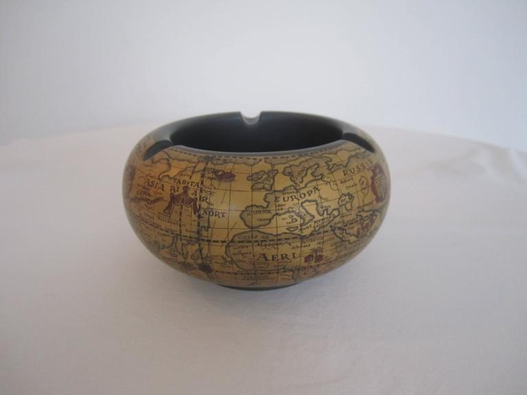 World Globe Ashtray Or Bowl From Italy At 1stdibs
