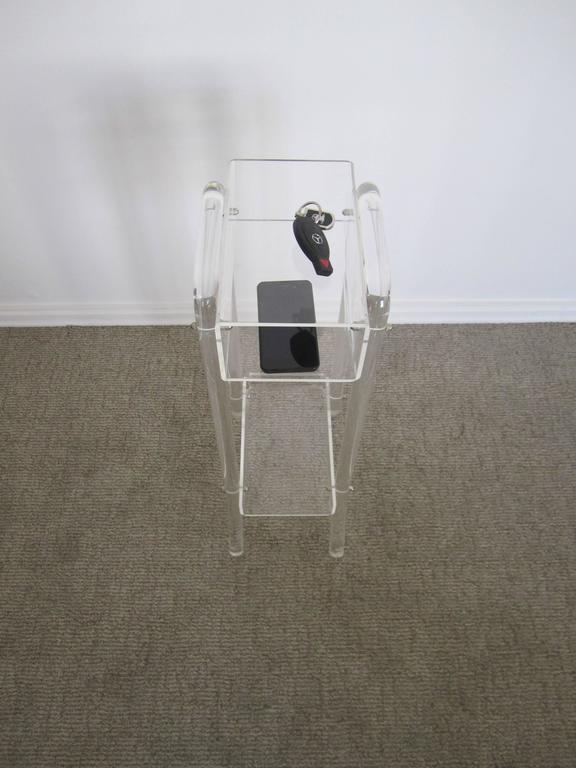 Vintage Lucite Table Or Storage Caddy In The Style Of