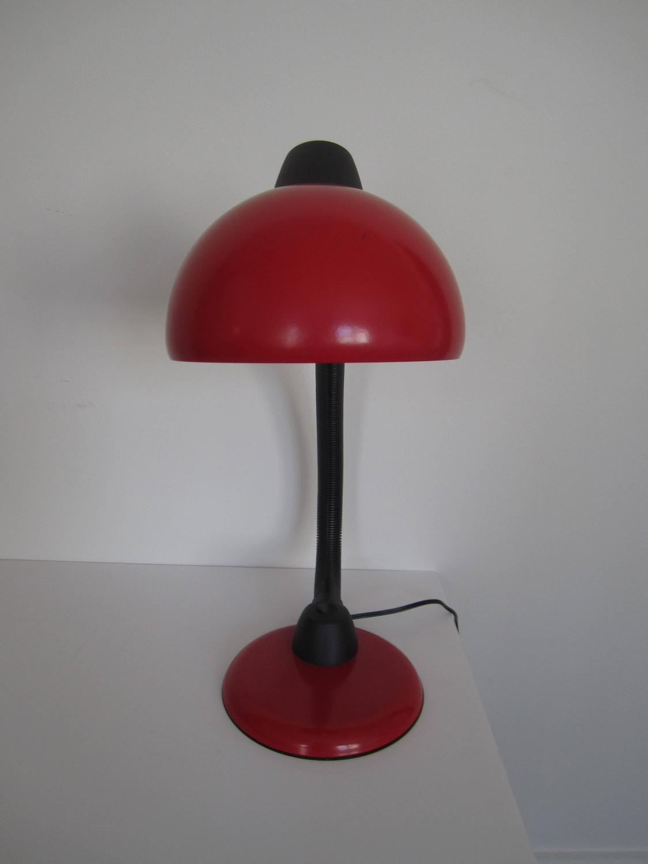 vintage red and black desk lamp for sale at 1stdibs. Black Bedroom Furniture Sets. Home Design Ideas