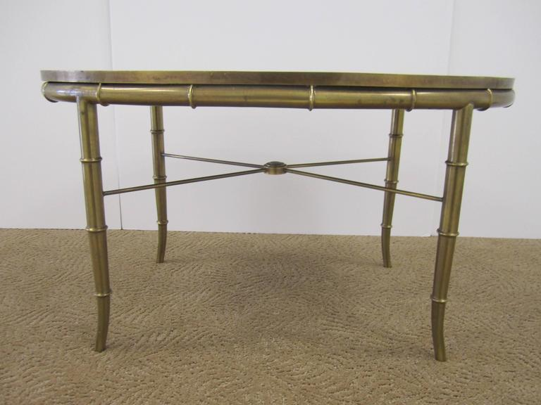 Vintage Italian Brass Cocktail Table With Black Mirror Glass Top For Sale At 1stdibs