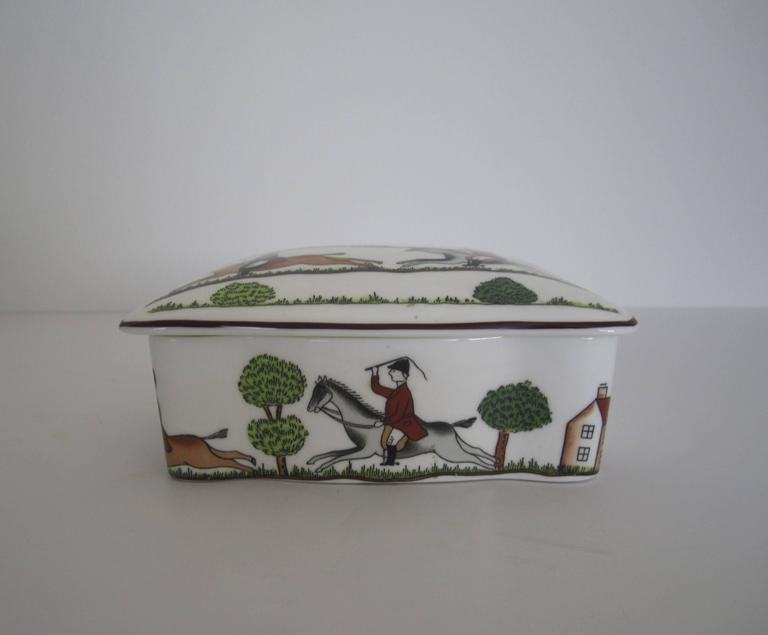 Equestrian Horse Hunting Scene Box in the Style of Hermès 4