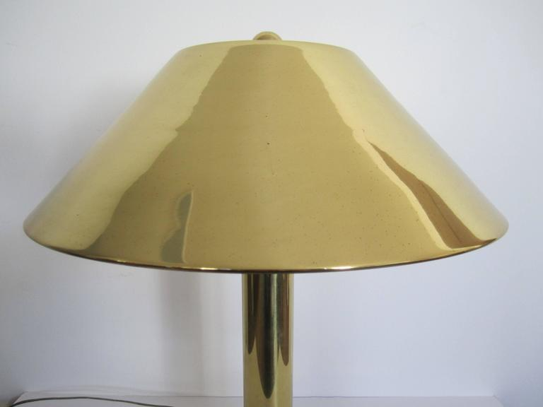 Vintage Modern Brass Table L& after Designer Pierre Cardin 3 & Vintage Modern Brass Table Lamp after Designer Pierre Cardin For ... azcodes.com