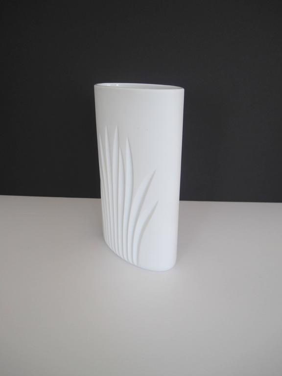 20th Century Vintage White Matte Porcelain Pottery Vase by Rosenthal, Germany For Sale