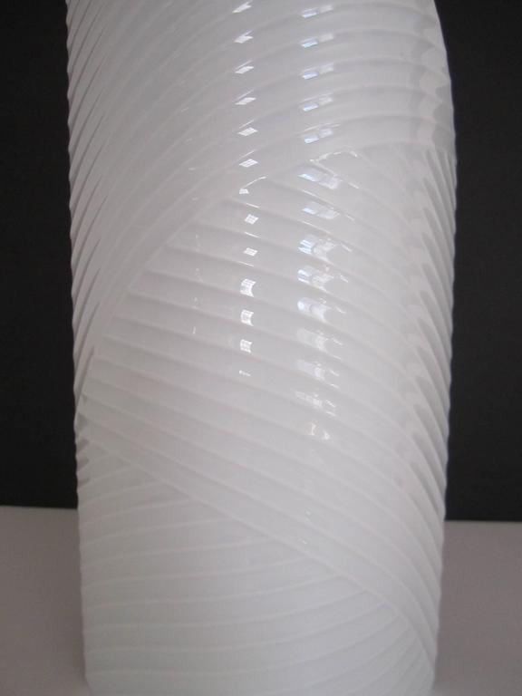 White Asymmetric Porcelain Ceramic Vase, Germany For Sale 1
