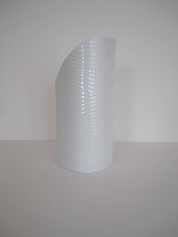 Modern White Asymmetric Porcelain Ceramic Vase, Germany For Sale