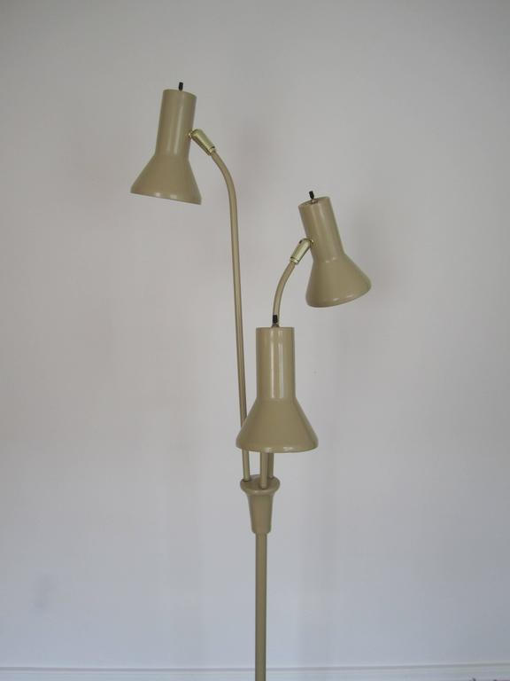 Mid Century Modern Tri Light Adjustable Floor Lamp For