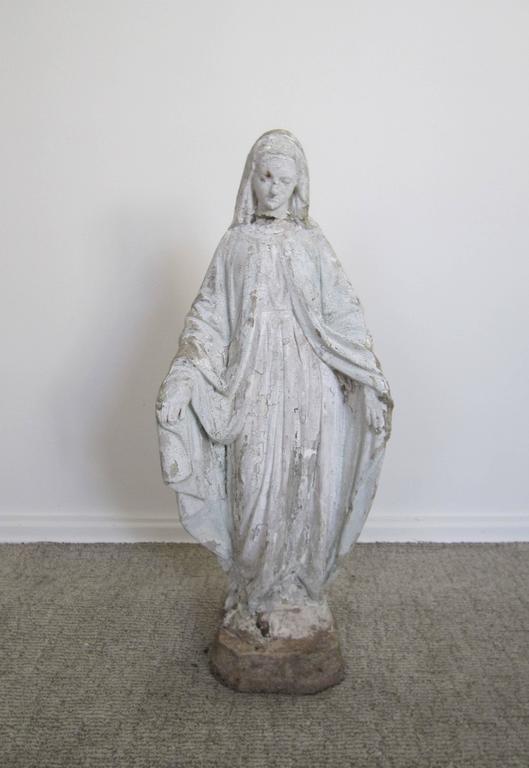 A Beautiful Vintage U0027Madonnau0027, U0027Blessed Motheru0027 Or U0027Virgin Maryu0027. Vintage Virgin  Mary Garden Sculpture Statue ...
