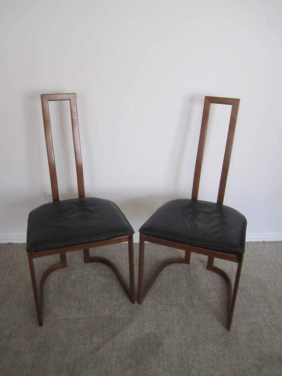 Vintage Pair of Modern Italian Side Chairs 2