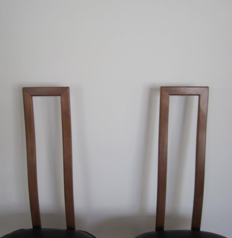 Vintage Pair of Modern Italian Side Chairs 10