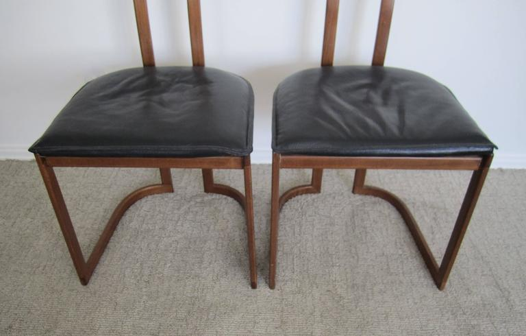 Pair of Modern Italian Side Chairs For Sale 4