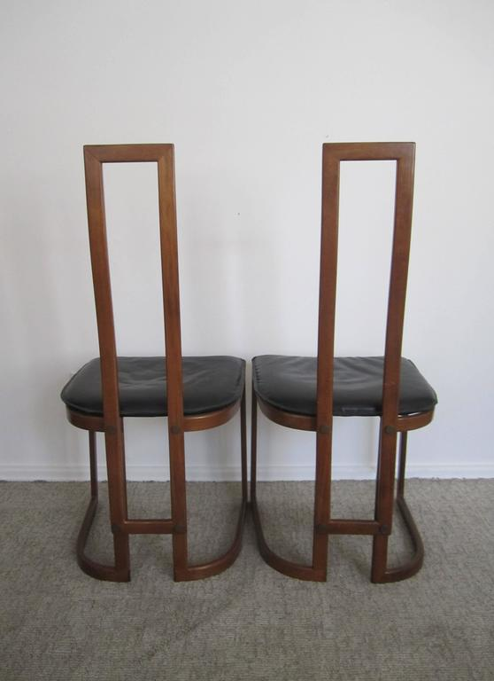 Upholstery Pair of Modern Italian Side Chairs For Sale