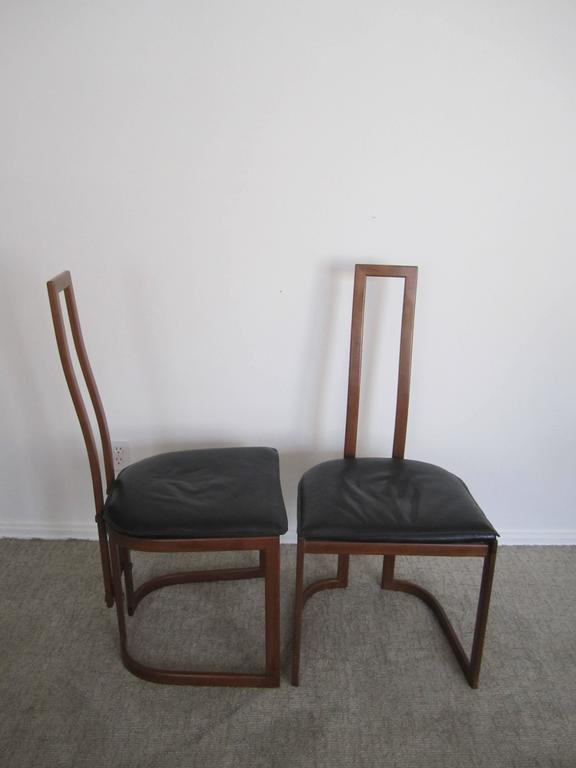 Pair of Modern Italian Side Chairs For Sale 1