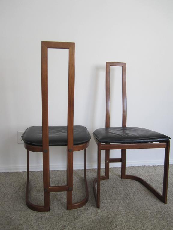 Vintage Pair of Modern Italian Side Chairs 4