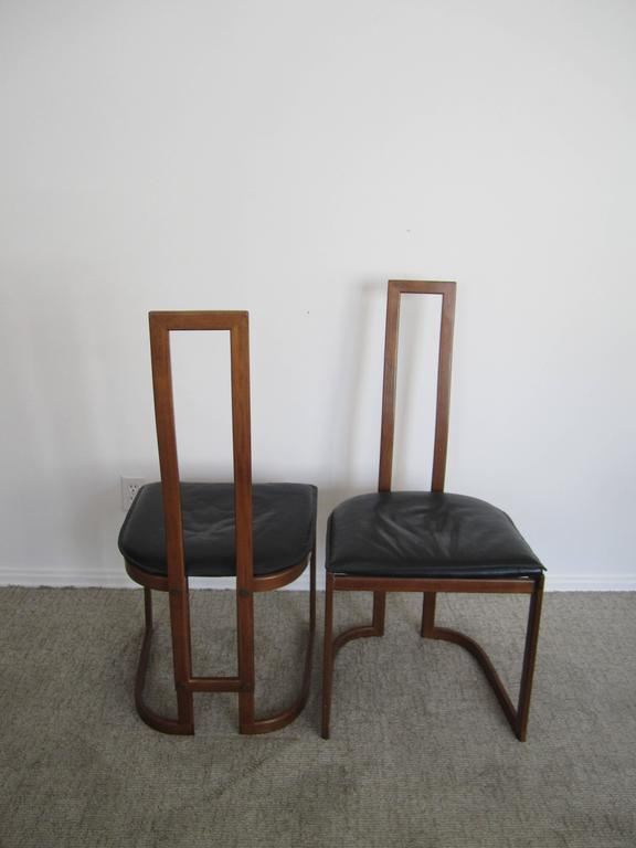 Pair of Modern Italian Side Chairs For Sale 2