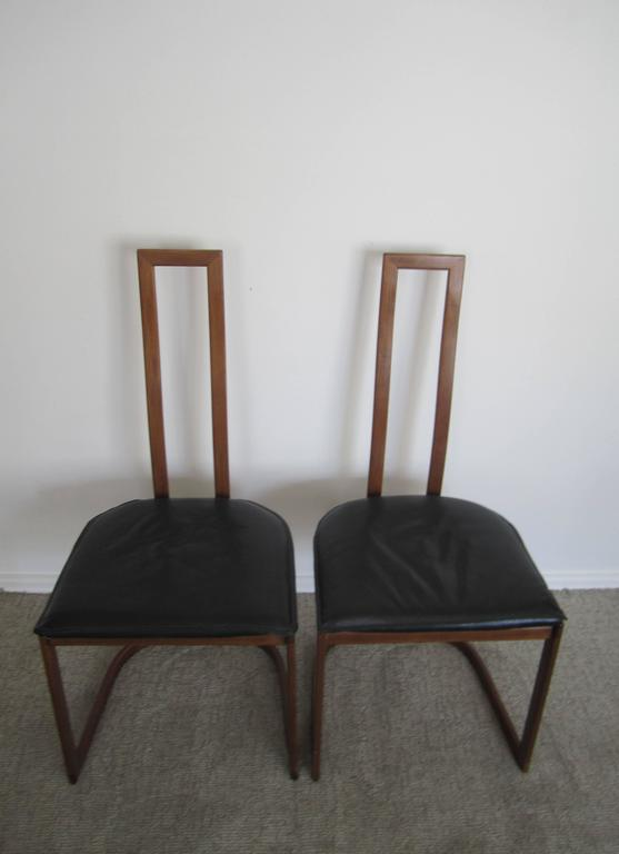 Pair of Modern Italian Side Chairs For Sale 3
