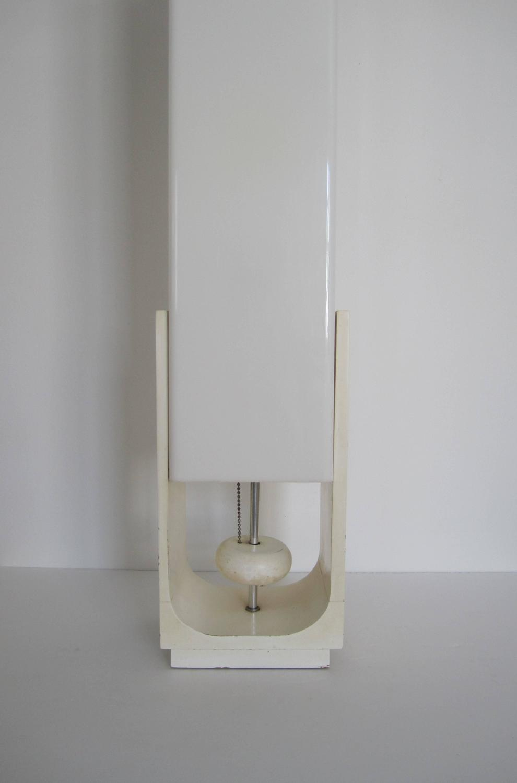 Vintage Modern White Table Lamp 1960s For Sale At 1stdibs