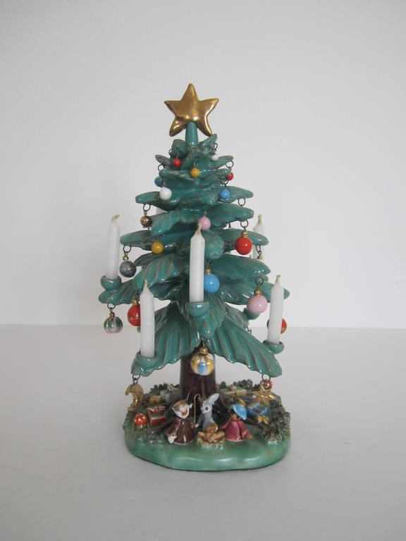 Vintage Mexican Pottery Christmas Tree Sculpture At 1stdibs