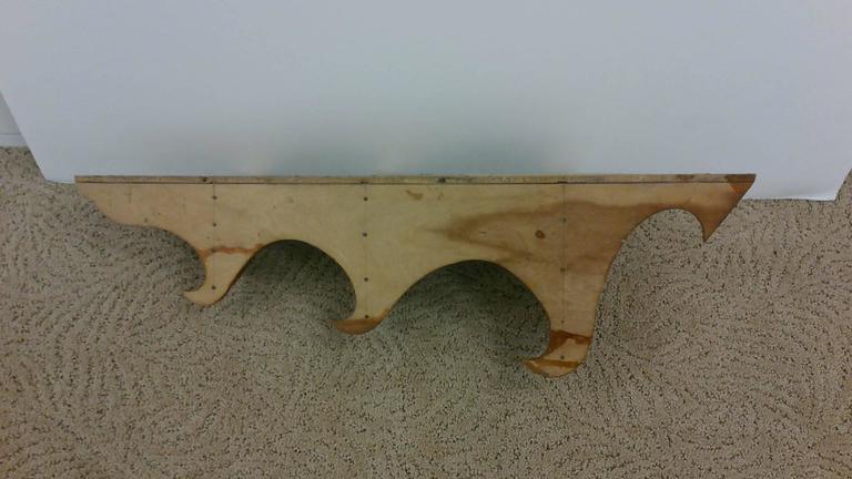 Hanging Corner Wall Wood Shelf For Sale 4